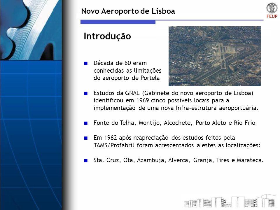 Introdução Novo Aeroporto de Lisboa Década de 60 eram