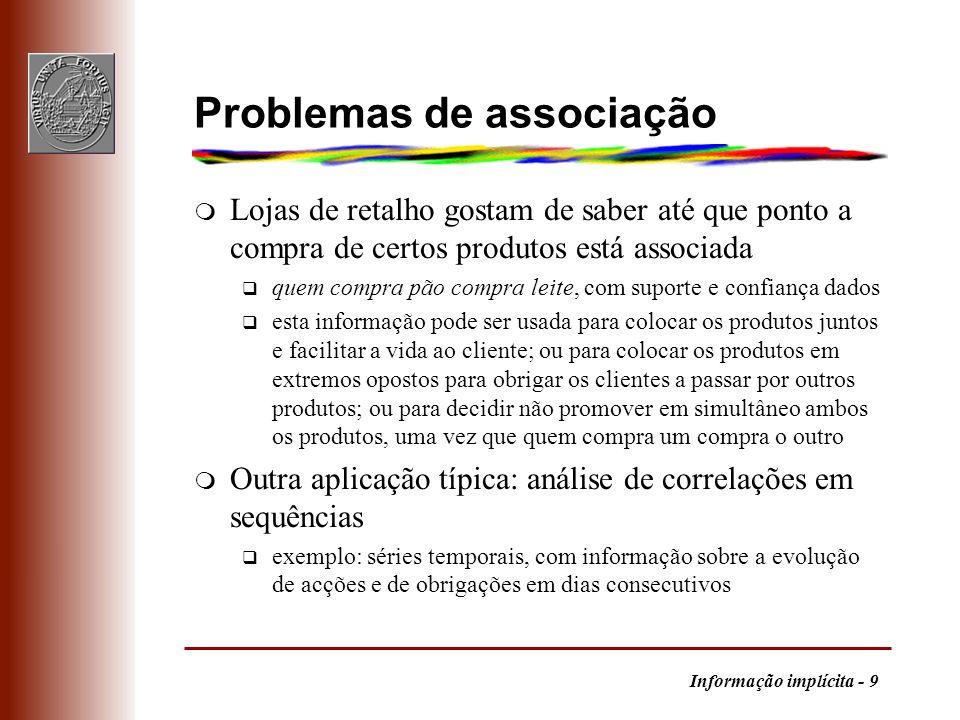 Problemas de associação