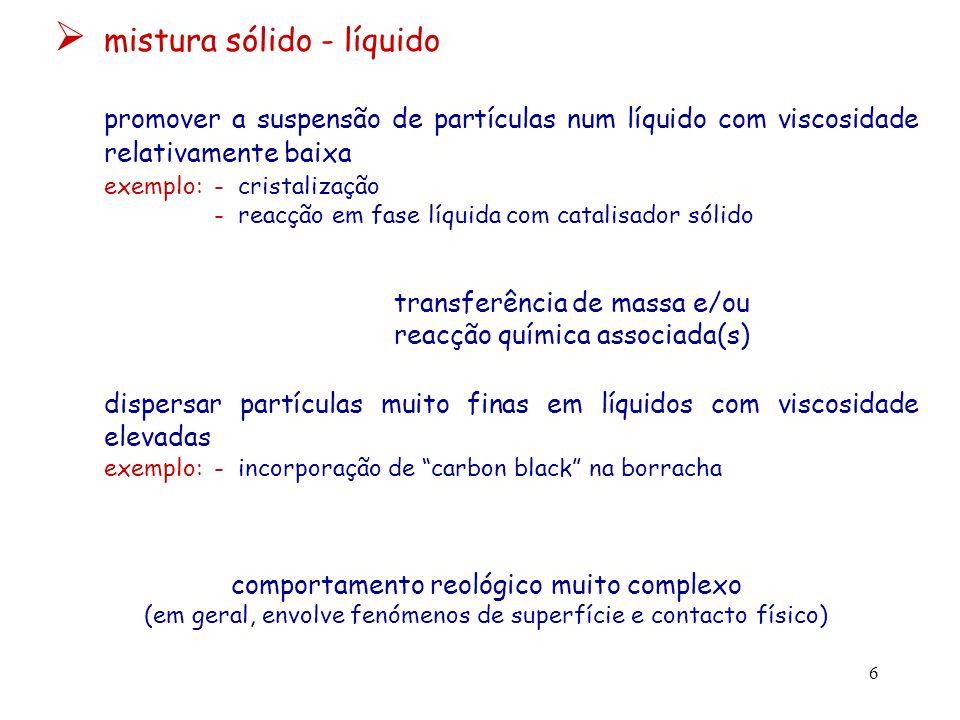 mistura sólido - líquido