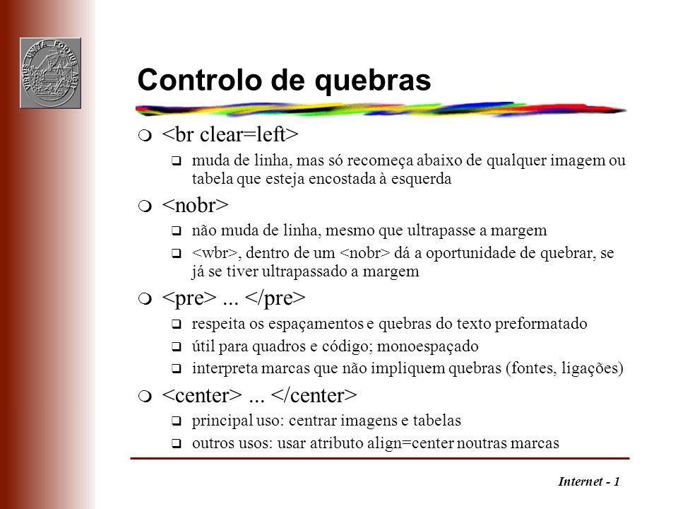 Controlo de quebras <br clear=left> <nobr>