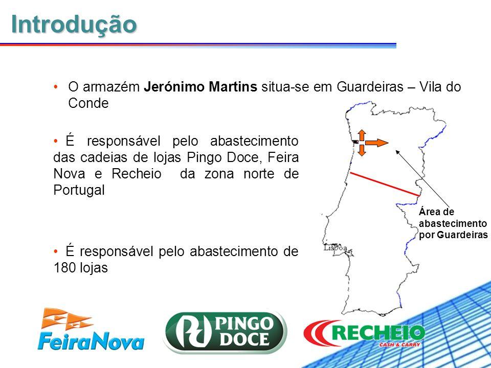 IntroduçãoO armazém Jerónimo Martins situa-se em Guardeiras – Vila do Conde.
