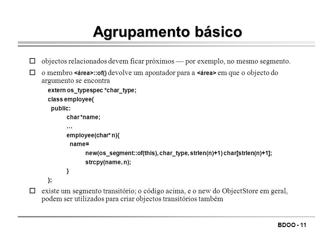 LEIC/FEUP Tecnologia de Sistemas de Gestão de Bases de Dados. Agrupamento básico.