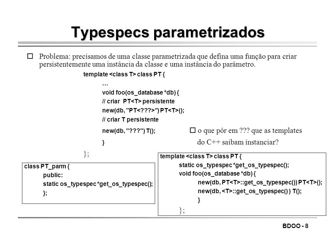 Typespecs parametrizados