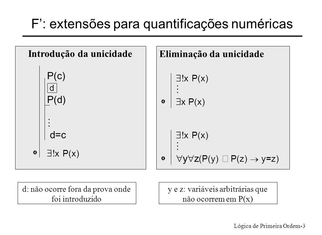 F': extensões para quantificações numéricas