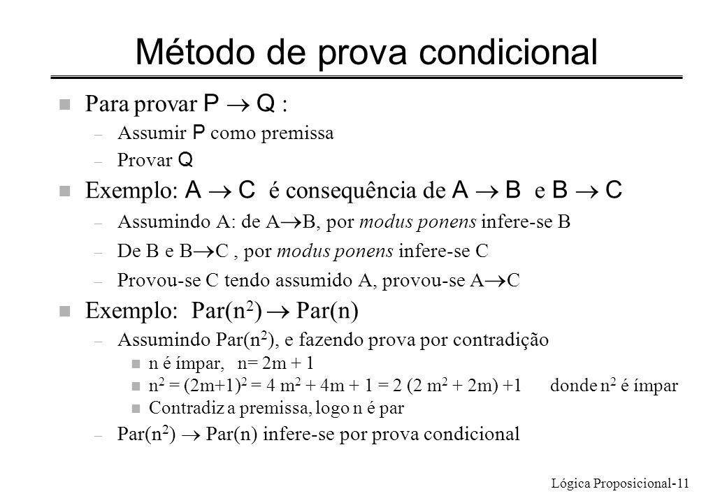 Método de prova condicional