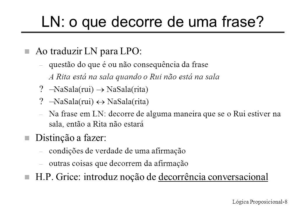 LN: o que decorre de uma frase