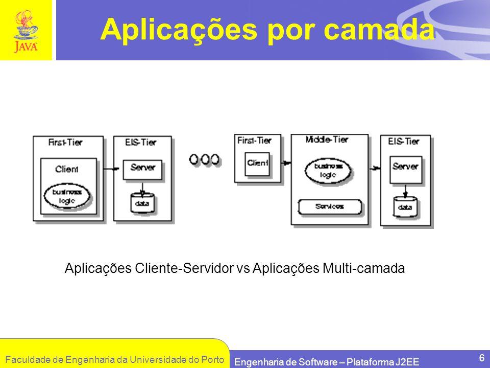 Aplicações Cliente-Servidor vs Aplicações Multi-camada