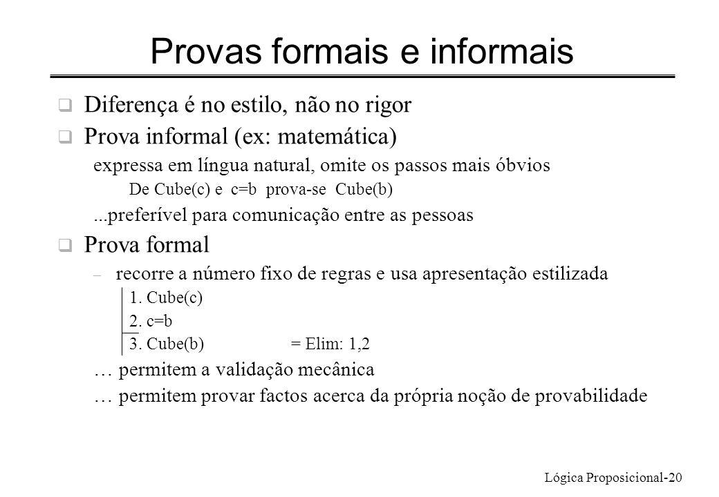 Provas formais e informais