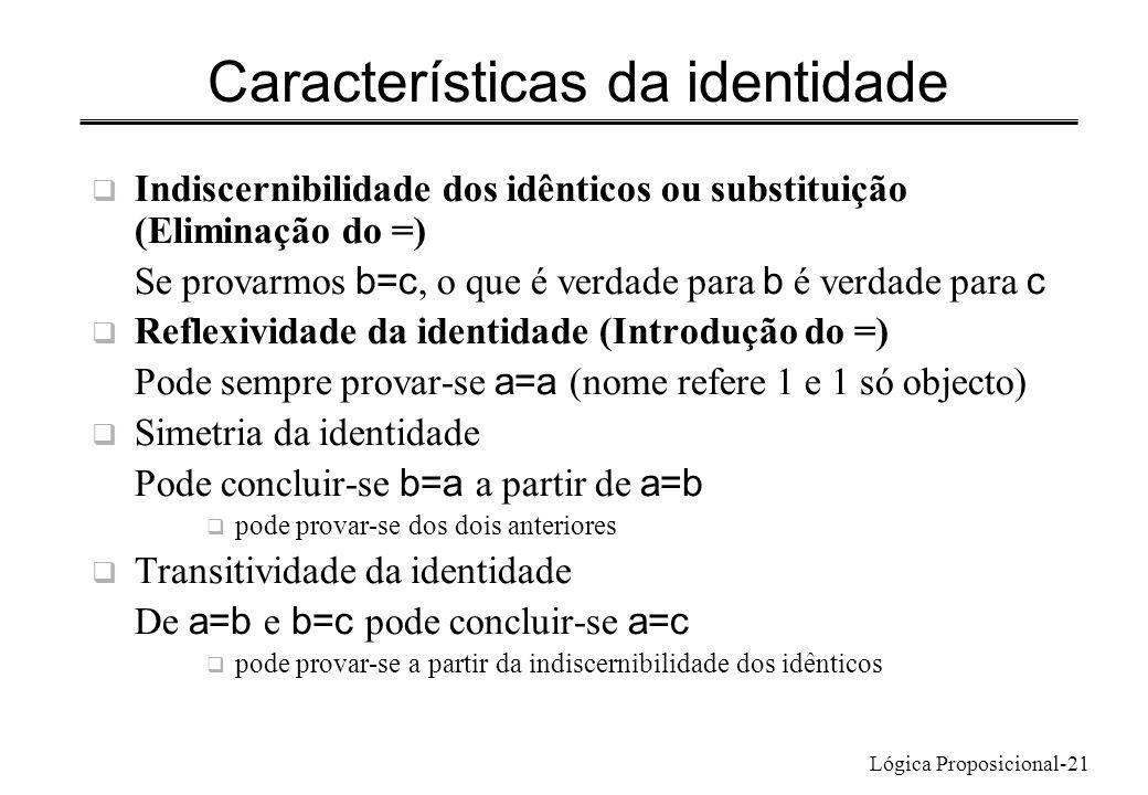 Características da identidade