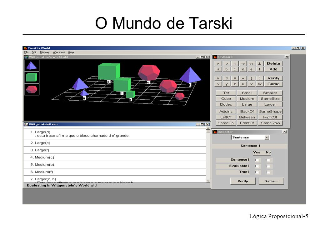 O Mundo de Tarski