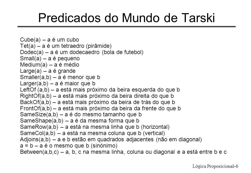 Predicados do Mundo de Tarski