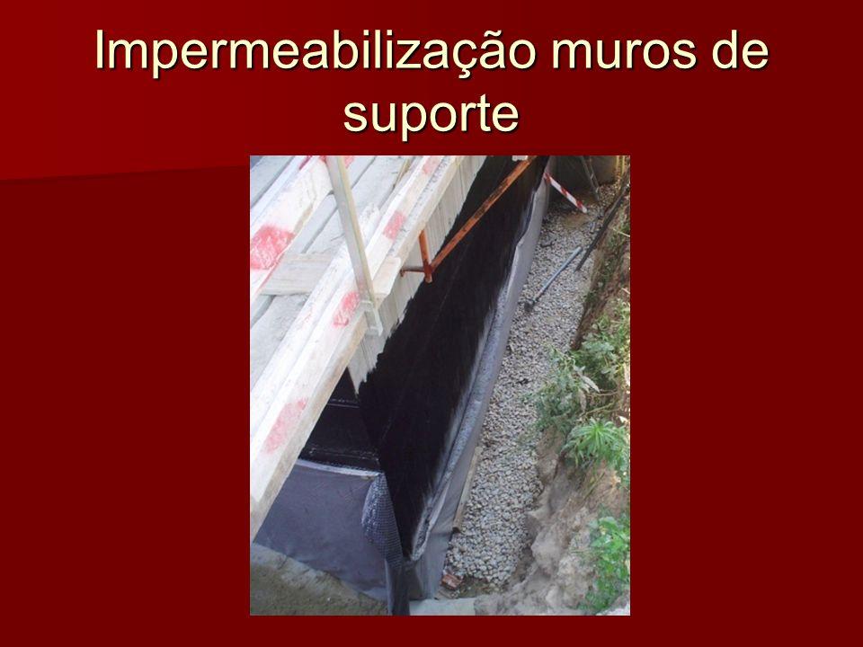 Impermeabilização muros de suporte