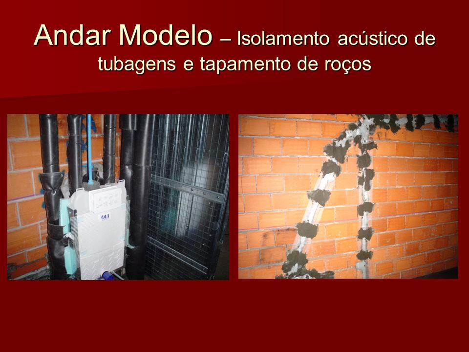 Andar Modelo – Isolamento acústico de tubagens e tapamento de roços