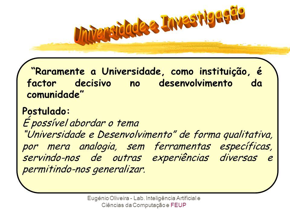 Raramente a Universidade, como instituição, é factor decisivo no desenvolvimento da comunidade