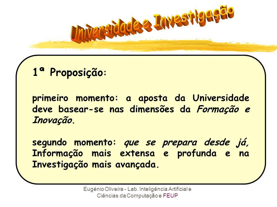 1ª Proposição: primeiro momento: a aposta da Universidade deve basear-se nas dimensões da Formação e Inovação.