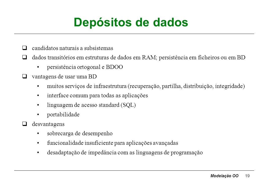 Depósitos de dados candidatos naturais a subsistemas