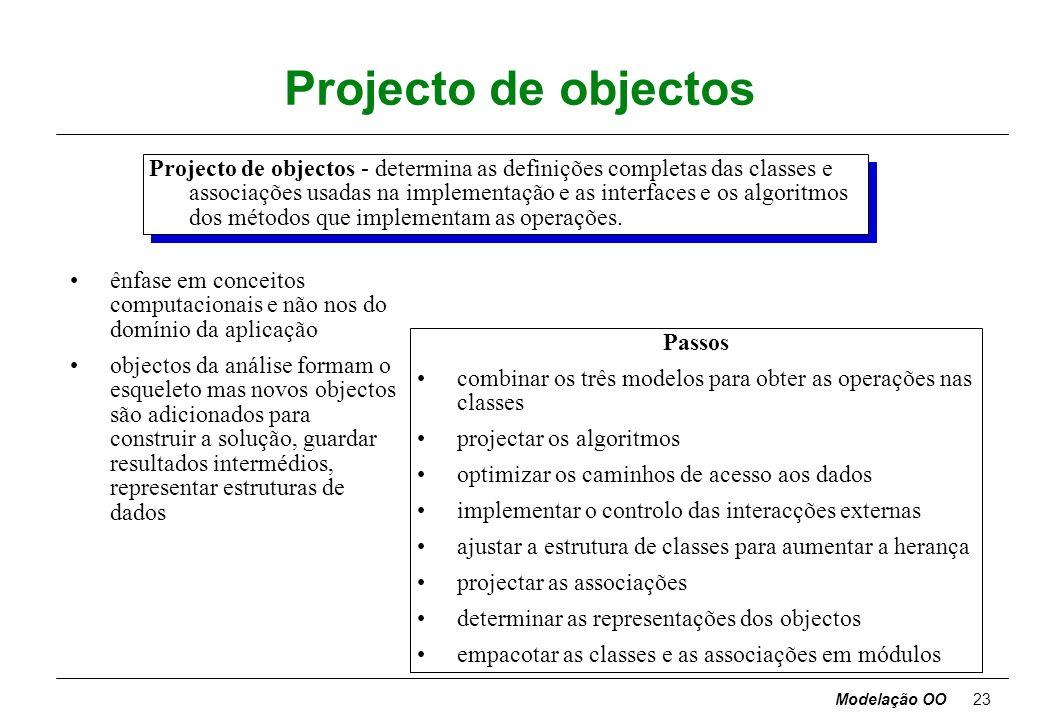 Projecto de objectos