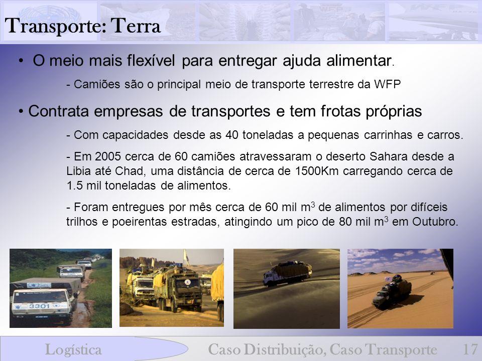 Transporte: Terra O meio mais flexível para entregar ajuda alimentar.