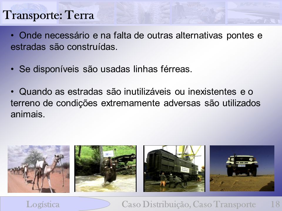 Transporte: Terra Onde necessário e na falta de outras alternativas pontes e estradas são construídas.