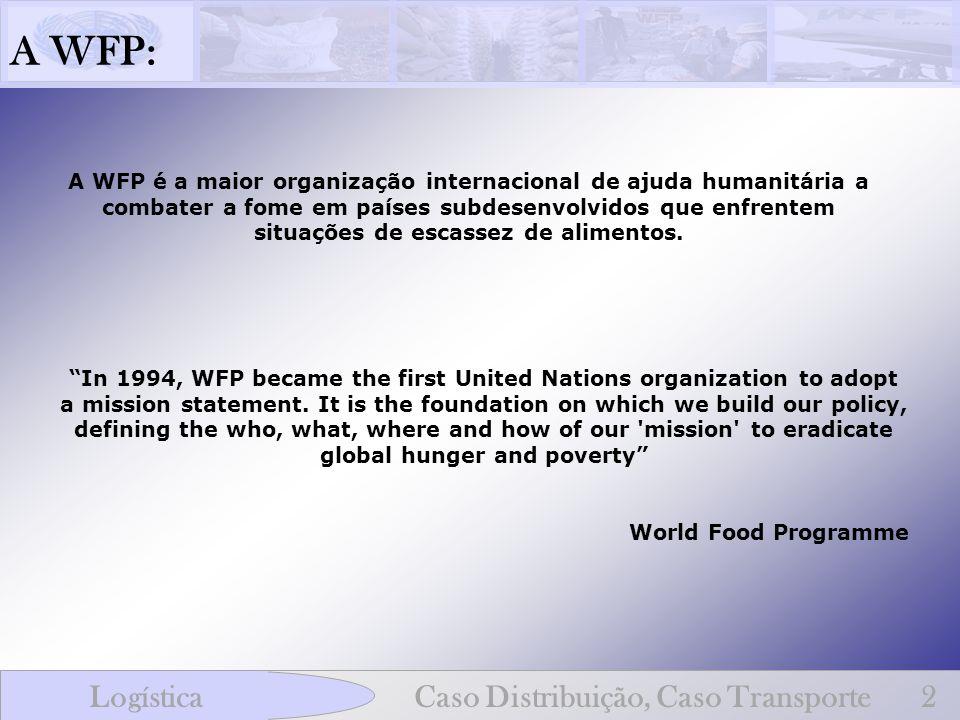 A WFP: Logística Caso Distribuição, Caso Transporte 2