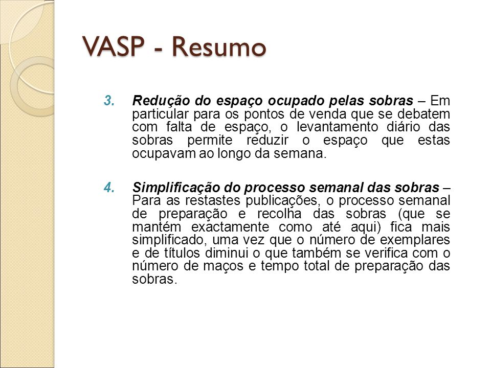 VASP - Resumo