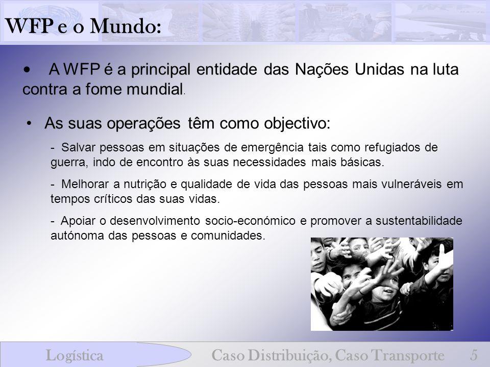 WFP e o Mundo:A WFP é a principal entidade das Nações Unidas na luta contra a fome mundial. As suas operações têm como objectivo: