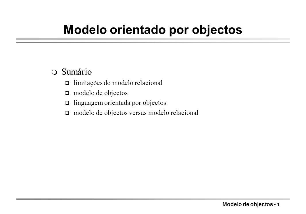 Modelo orientado por objectos