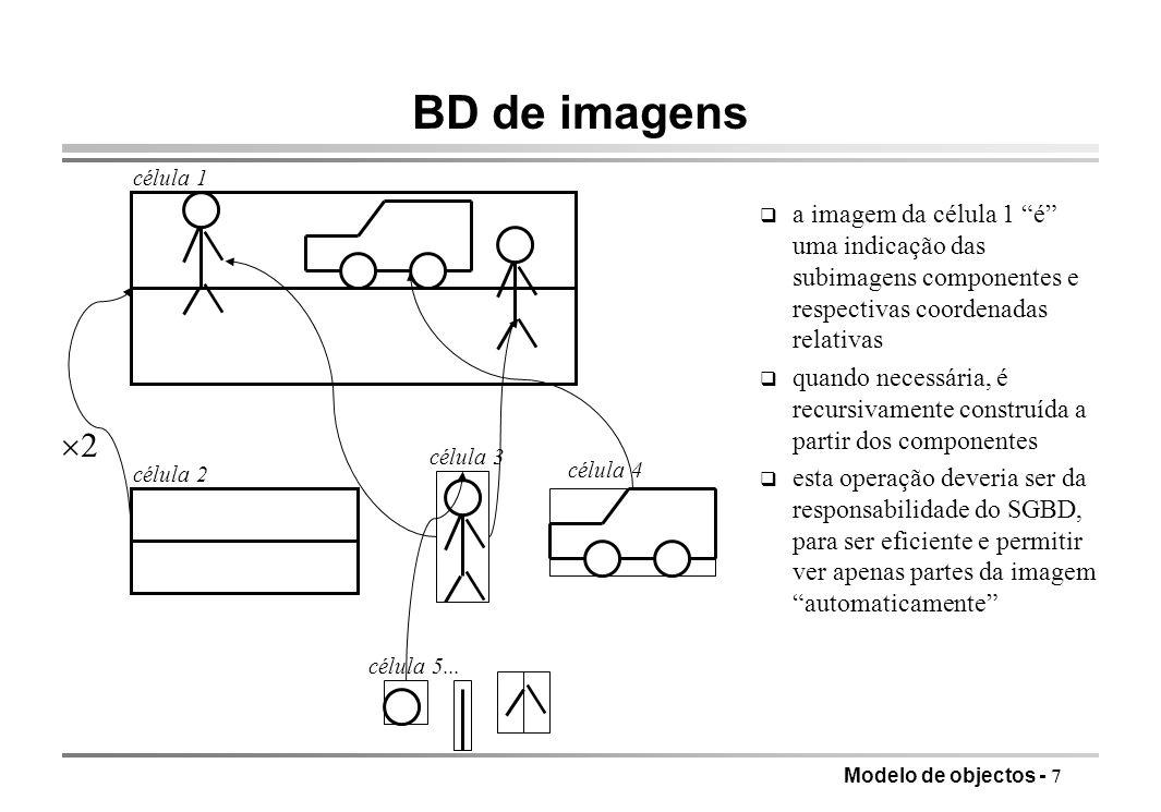BD de imagens célula 1. a imagem da célula 1 é uma indicação das subimagens componentes e respectivas coordenadas relativas.
