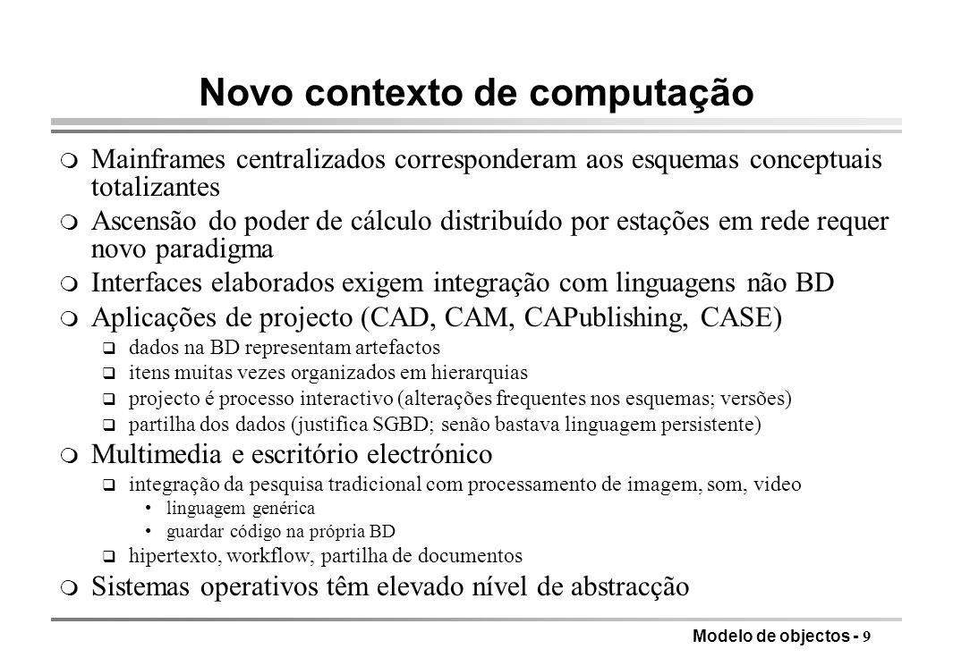 Novo contexto de computação