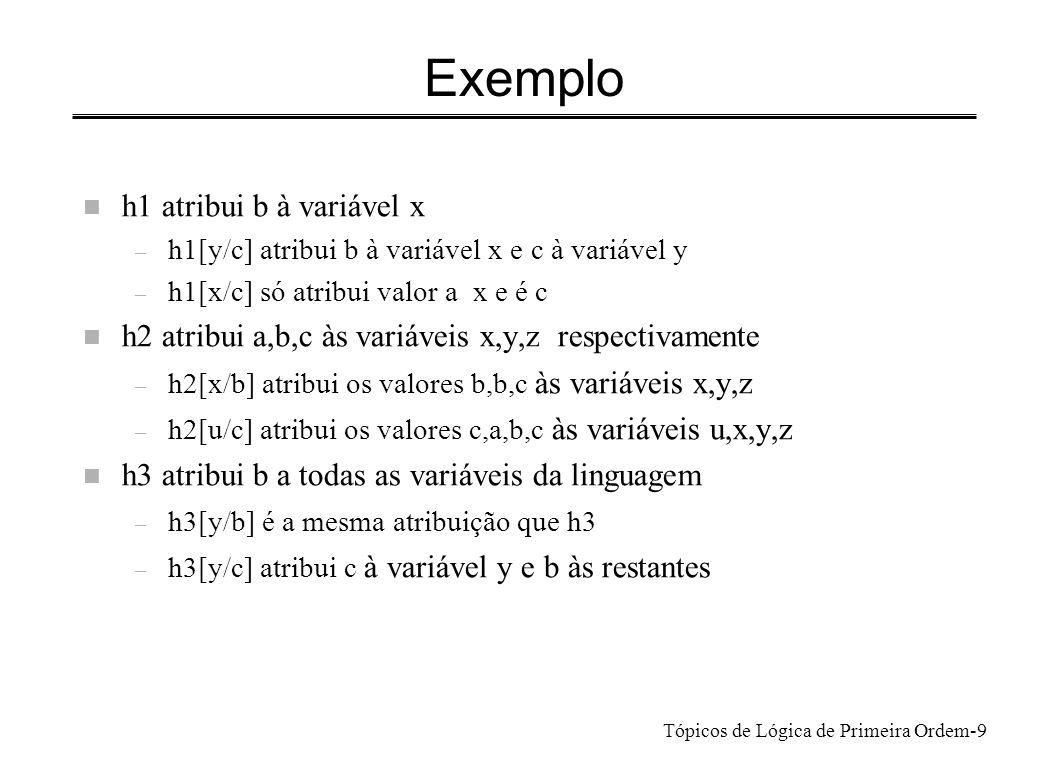 Exemplo h1 atribui b à variável x