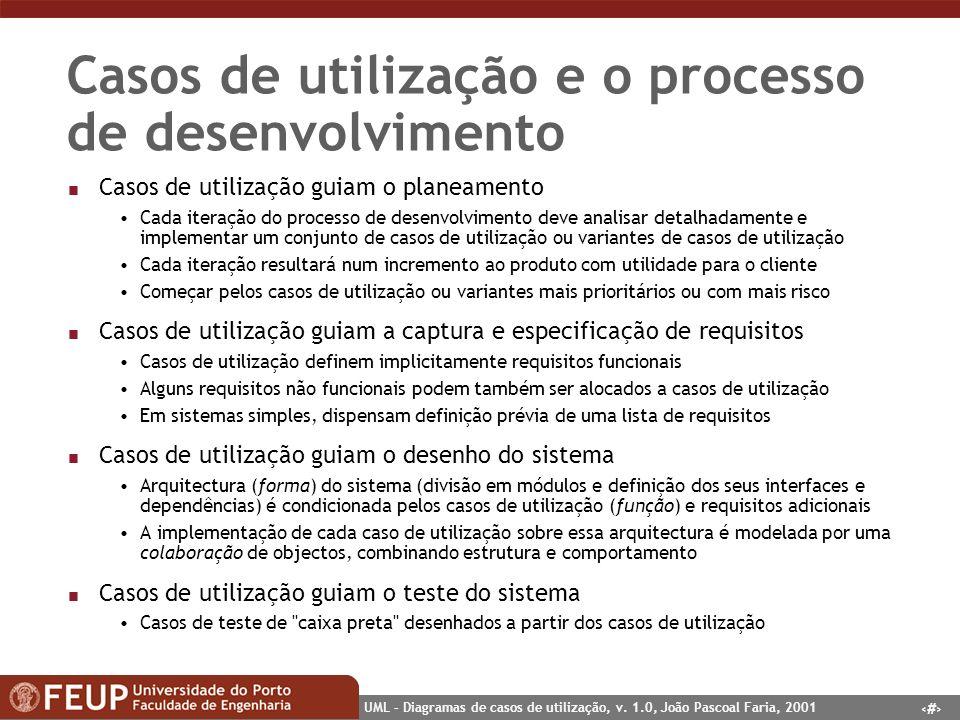 Casos de utilização e o processo de desenvolvimento