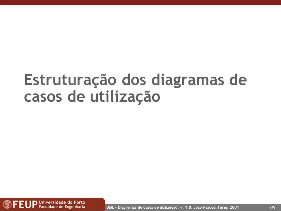 Estruturação dos diagramas de casos de utilização