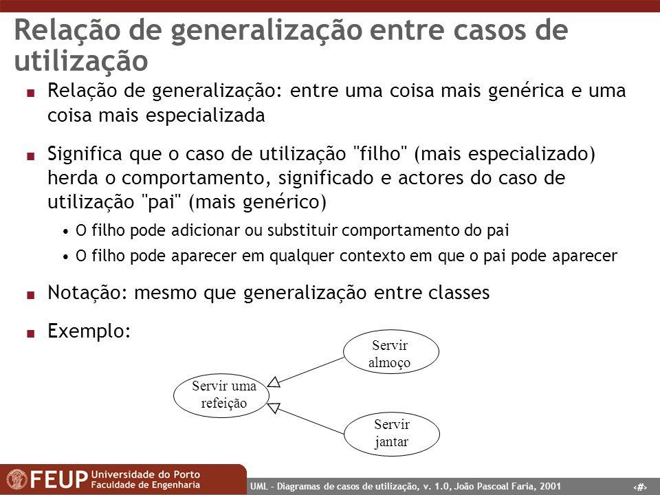Relação de generalização entre casos de utilização