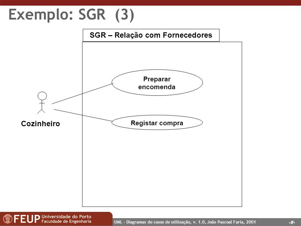 SGR – Relação com Fornecedores