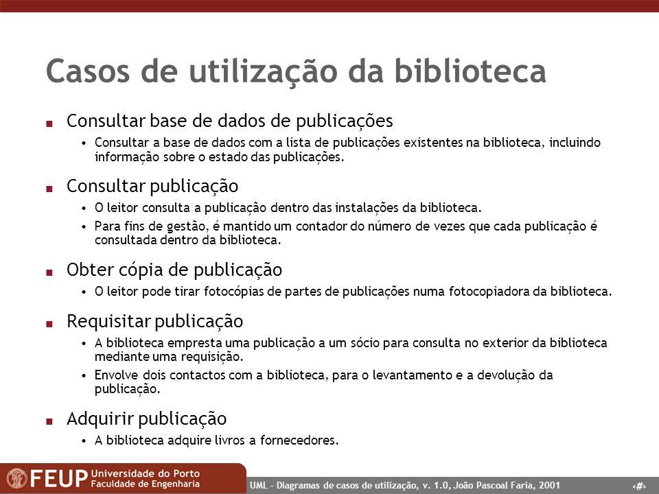 Casos de utilização da biblioteca