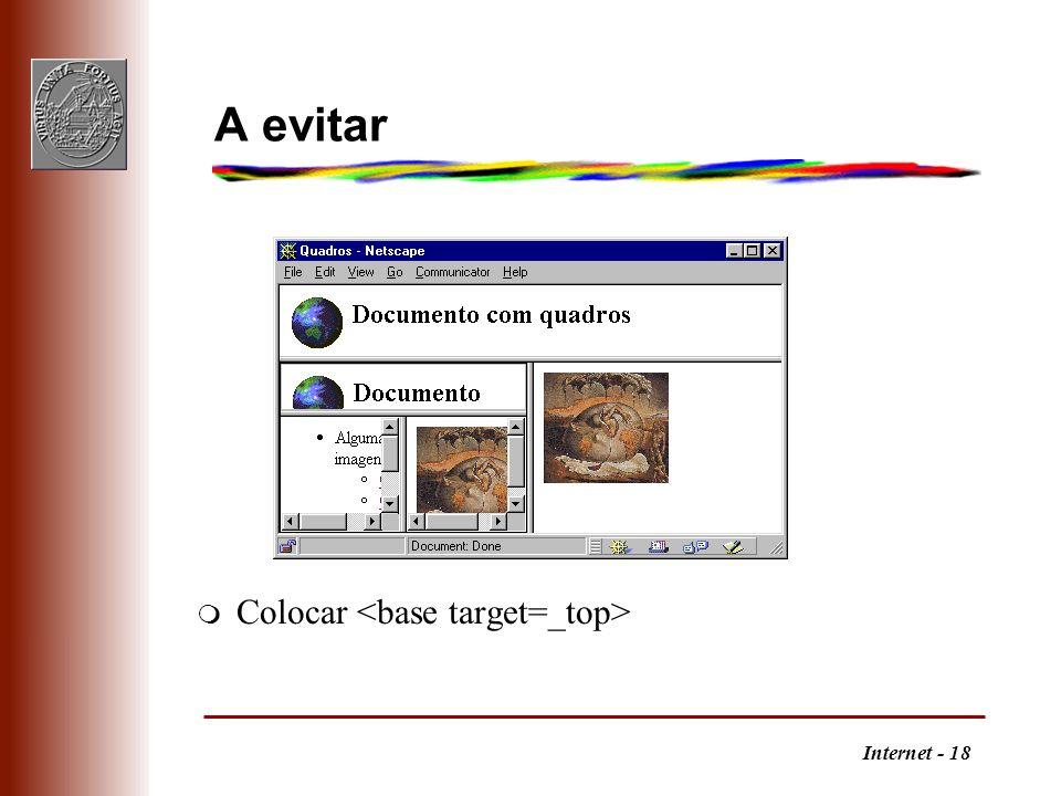 A evitar Colocar <base target=_top>