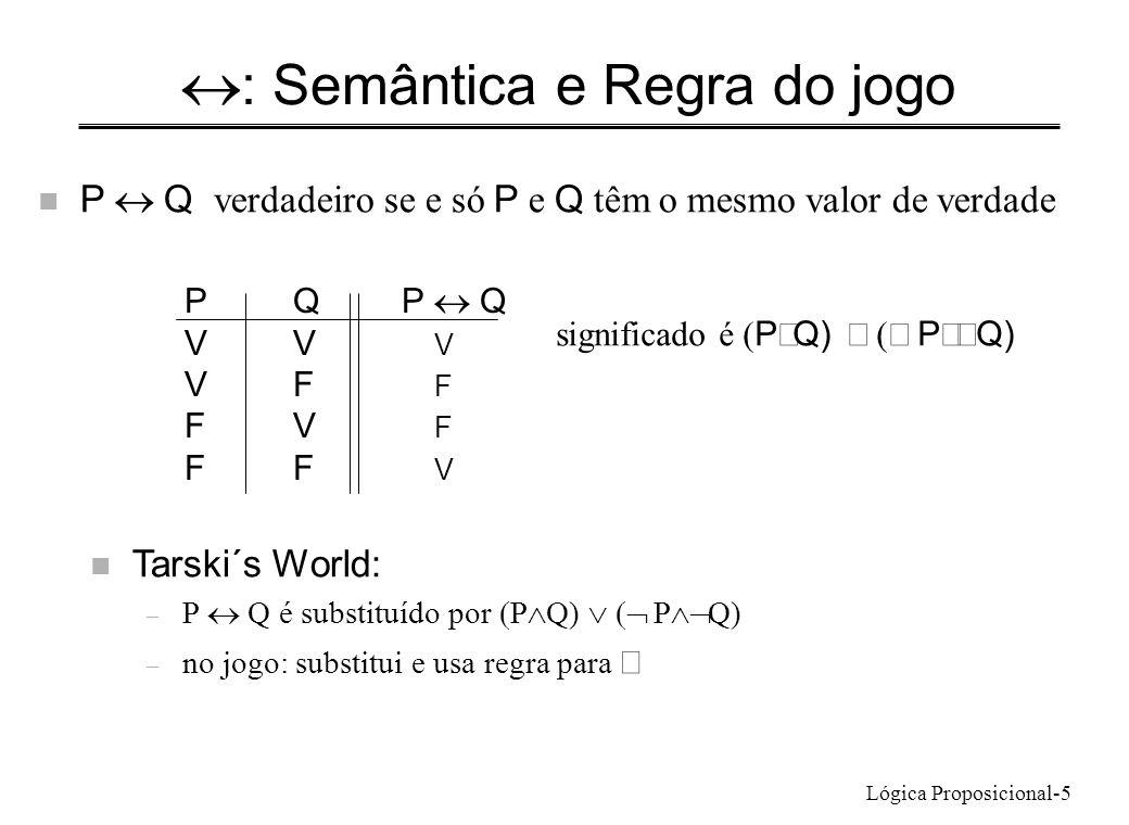 «: Semântica e Regra do jogo