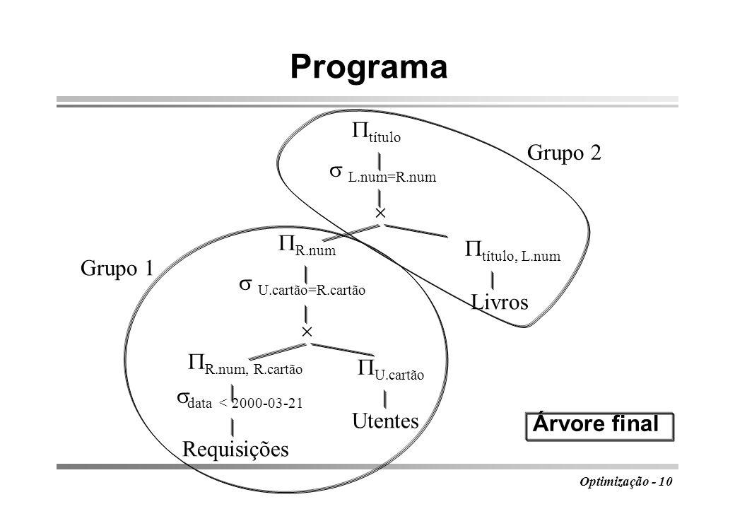 Programa título Grupo 2  L.num=R.num  R.num título, L.num Grupo 1