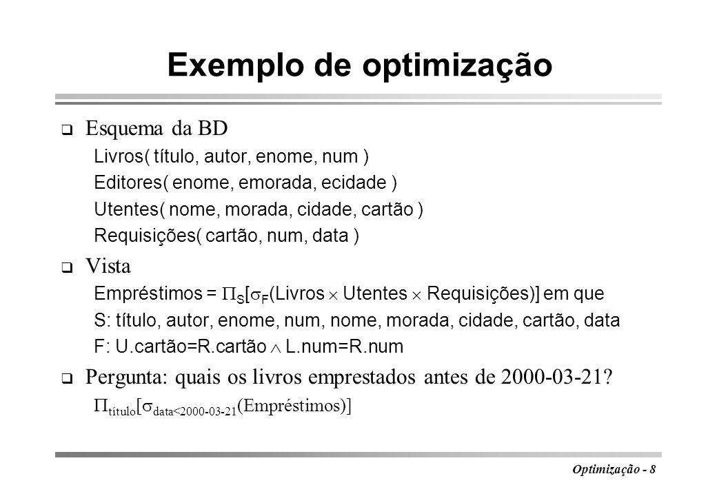 Exemplo de optimização