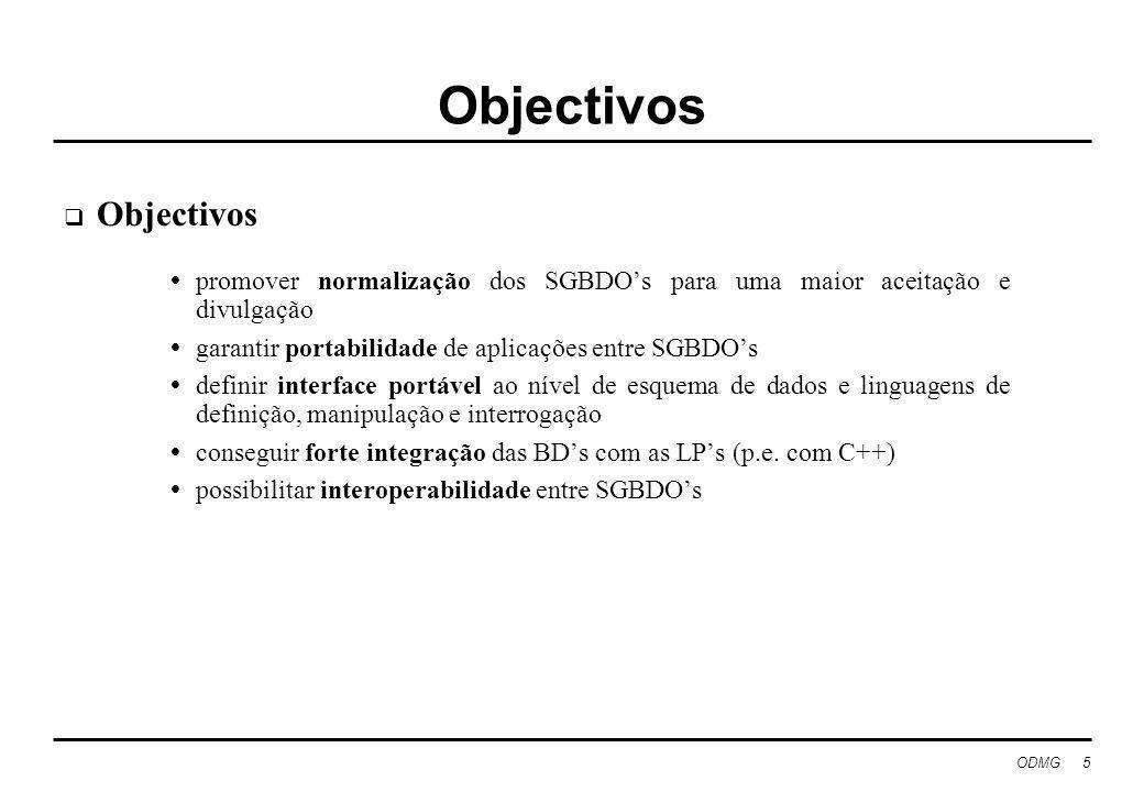 Objectivos Objectivos