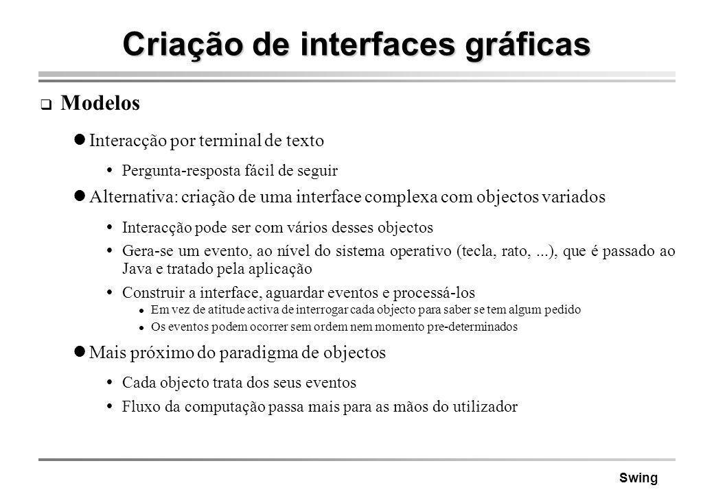 Criação de interfaces gráficas