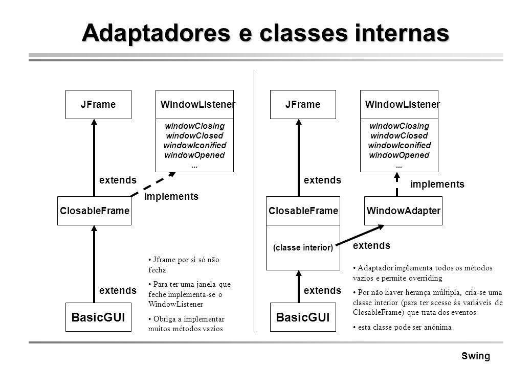 Adaptadores e classes internas