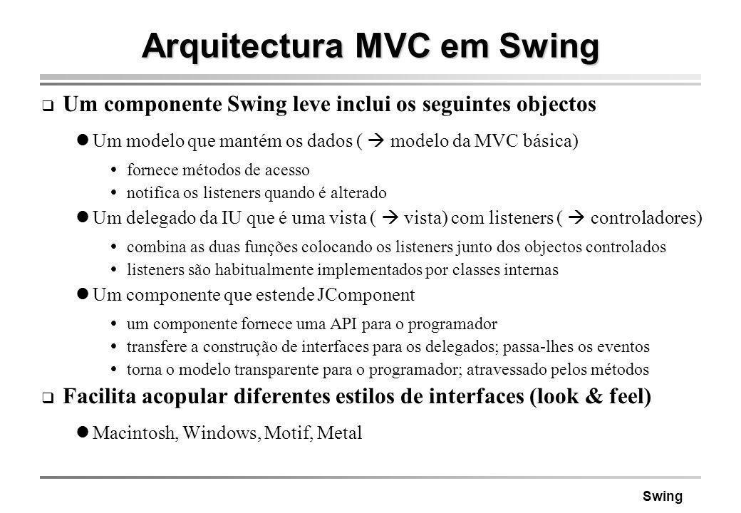 Arquitectura MVC em Swing