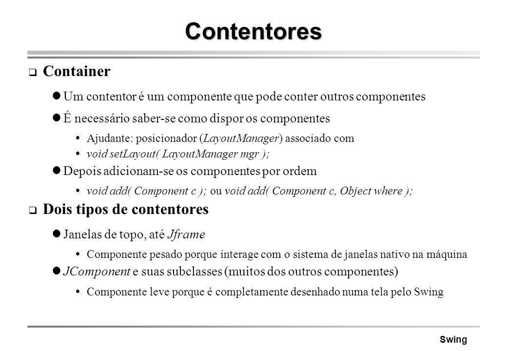 Contentores Container Dois tipos de contentores