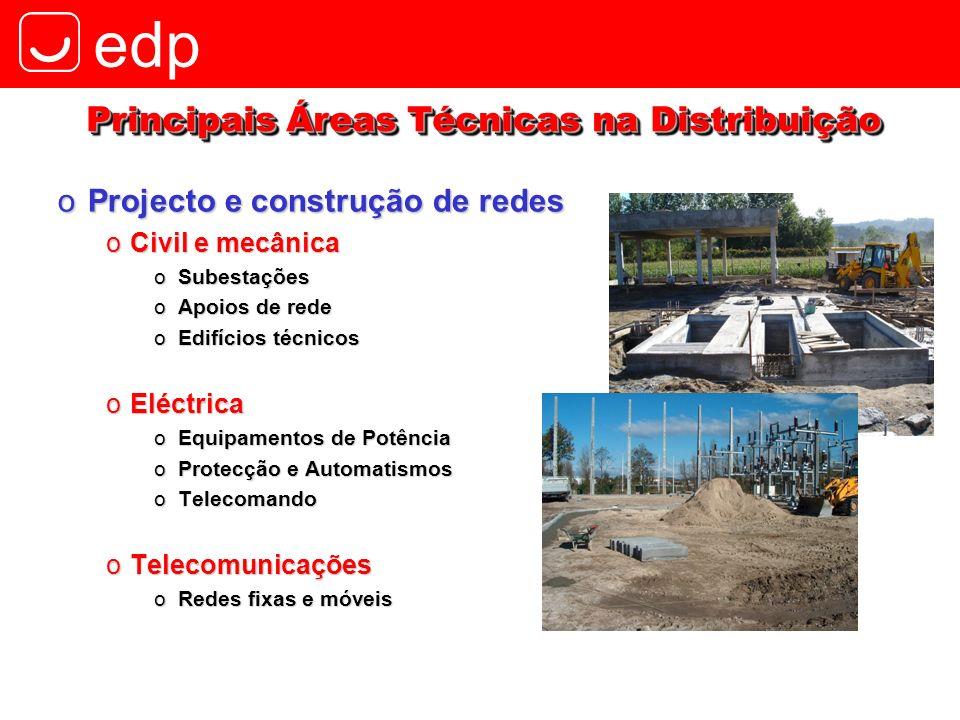 Principais Áreas Técnicas na Distribuição