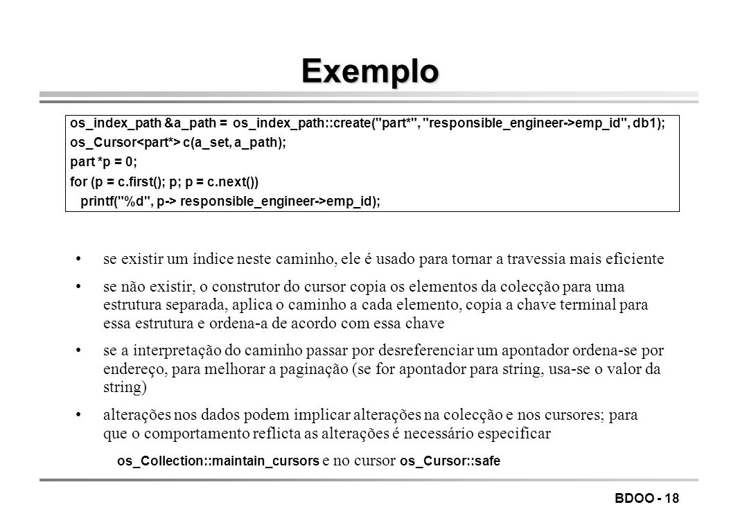 LEIC/FEUP Tecnologia de Sistemas de Gestão de Bases de Dados. Exemplo.