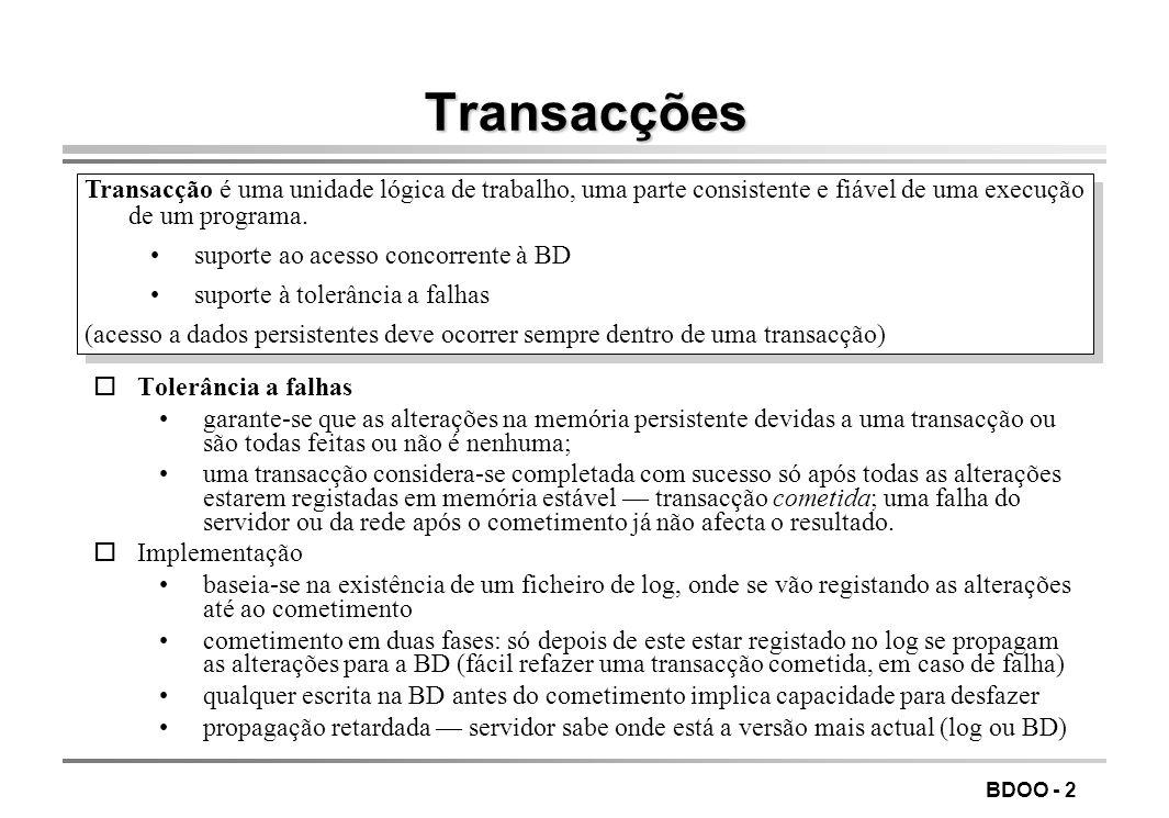 LEIC/FEUP Tecnologia de Sistemas de Gestão de Bases de Dados. Transacções.