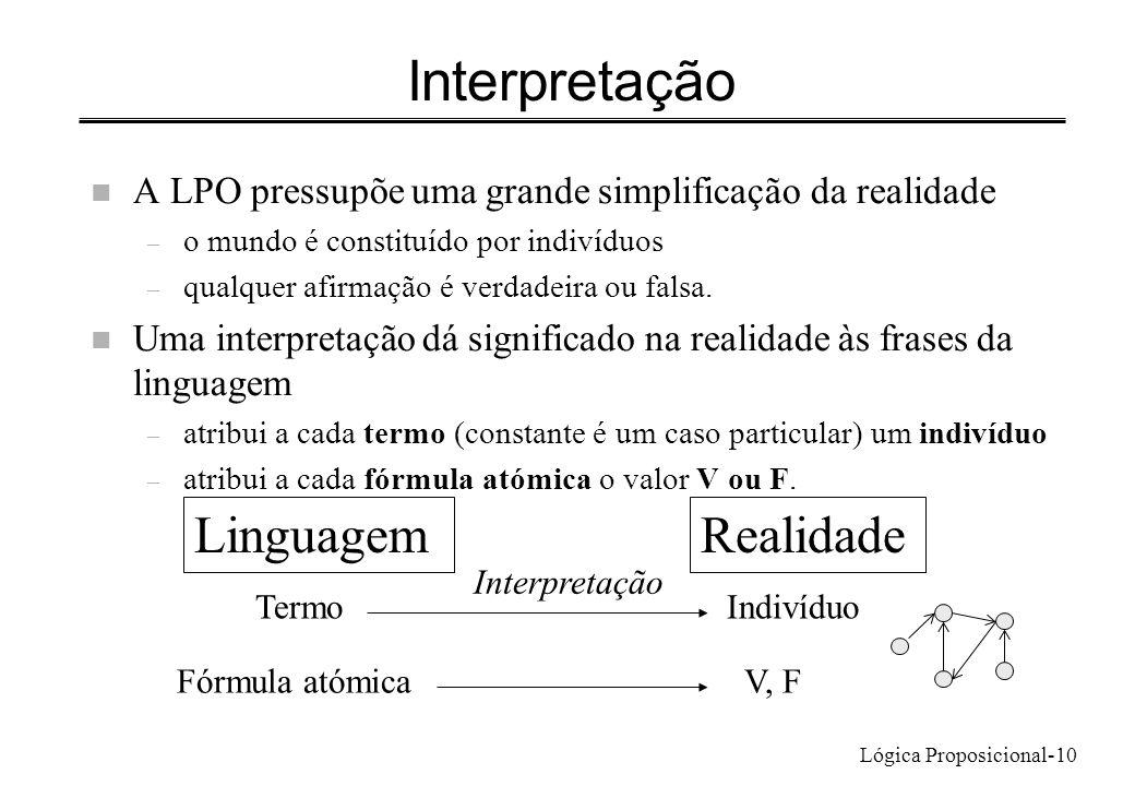 Interpretação Linguagem Realidade