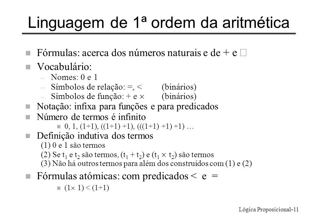 Linguagem de 1ª ordem da aritmética