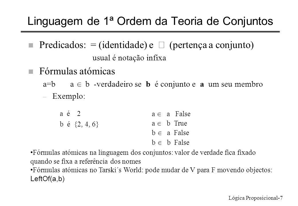 Linguagem de 1ª Ordem da Teoria de Conjuntos